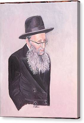 Rabbi Kamenetsky  Canvas Print by Carla Goodstein