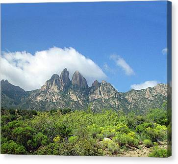 Canvas Print featuring the photograph  Organ Mountains Rabbit Ears by Jack Pumphrey