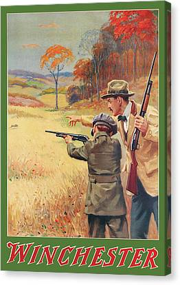 Rabbit Hunting Canvas Print by George Brehm