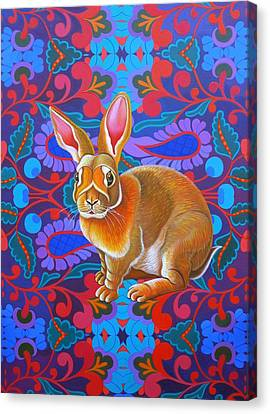 Rabbit Canvas Print by Jane Tattersfield