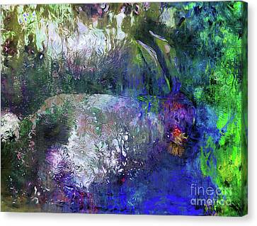 Canvas Print featuring the photograph Rabbit Reflection by Claire Bull