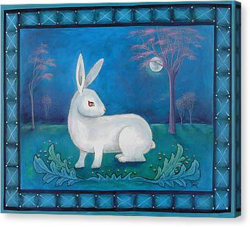 Canvas Print featuring the painting Rabbit Secrets by Terry Webb Harshman