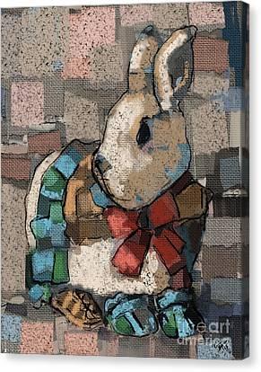 Rabbit Socks Canvas Print by Carrie Joy Byrnes