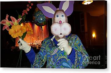 March Hare Canvas Print - Rabbit With Bouquet by GJ Glorijean