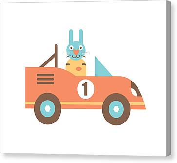 Rabbit Racer Canvas Print by Mitch Frey