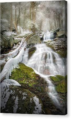 Race Brook Falls Ice Canvas Print