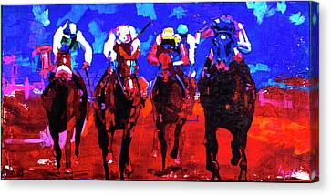 Race Day Canvas Print by Steve Lappe
