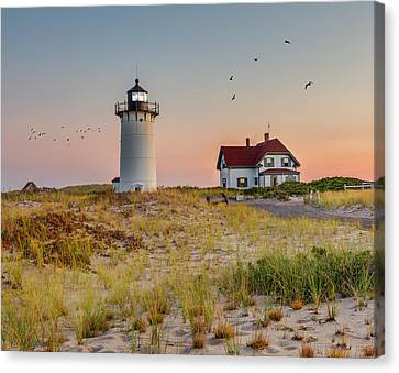 Race Point Light Cape Cod Canvas Print by Bill Wakeley