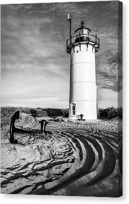 Race Point Light Provincetown Ma Bw Canvas Print