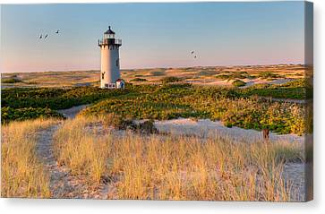 Race Point Light Sand Dunes Canvas Print by Bill Wakeley
