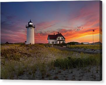 Race Point Light Sunset 2015 Canvas Print by Bill Wakeley