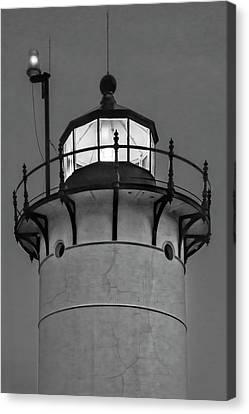 Race Point Lighthouse New England Bw Canvas Print