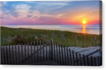 Race Point Sunset Cape Cod 2015 Canvas Print by Bill Wakeley