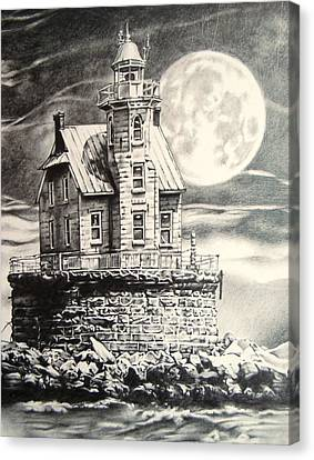 Race Rock Light House Canvas Print by Michael Lee Summers