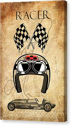 Racer Canvas Print by Greg Sharpe