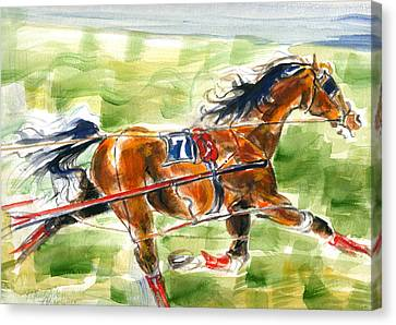 Racer Canvas Print by Mary Armstrong