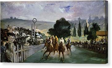 1832 Canvas Print - Races At Longchamp by Edouard Manet