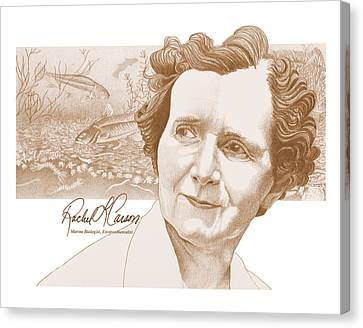 Rachel Carson Canvas Print by John D Benson