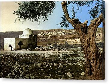 Rachel Tomb In Bethlehem Canvas Print by Munir Alawi