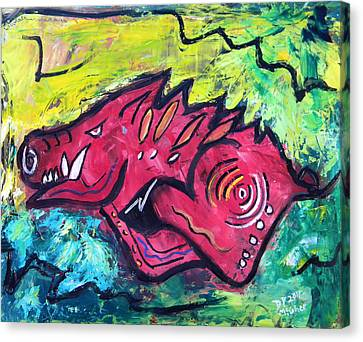 Racin' Red Canvas Print by David McGhee
