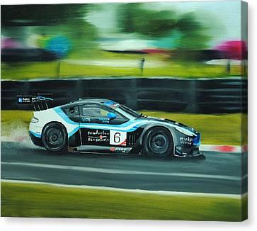 Racing Car Canvas Print by Nolan Clark