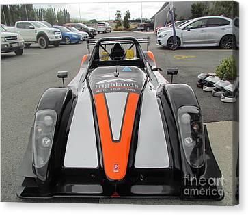 Racing  Cars Canvas Print by Joyce Woodhouse
