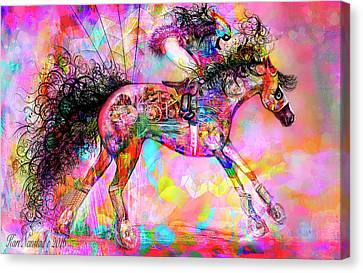 Racing For Time Canvas Print by Kari Nanstad