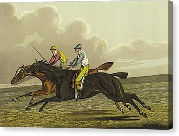 Racing Canvas Print by Henry Thomas Alken