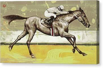 Racing Horse Pop Art Poser Canvas Print