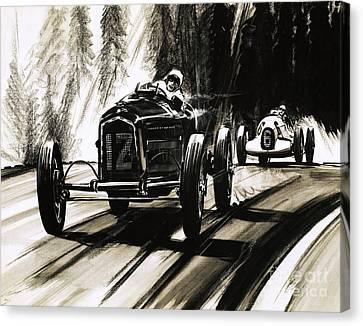 Racing On The Nurburgring Canvas Print