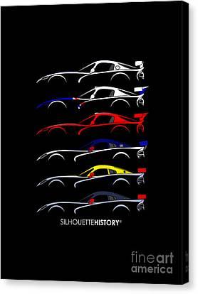 Viper Canvas Print - Racing Snake Silhouettehistory by Gabor Vida