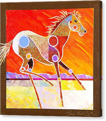 Racing The Desert Canvas Print by Bob Coonts