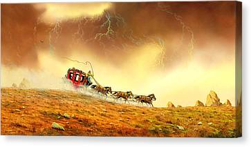Racing The Storm Canvas Print by Don Griffiths