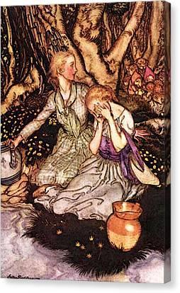 Rackham Arthur Goblin Market Down The Glen Tramp Little Men Canvas Print
