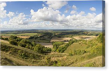 Rackham Hill To The North Downs Canvas Print by Hazy Apple