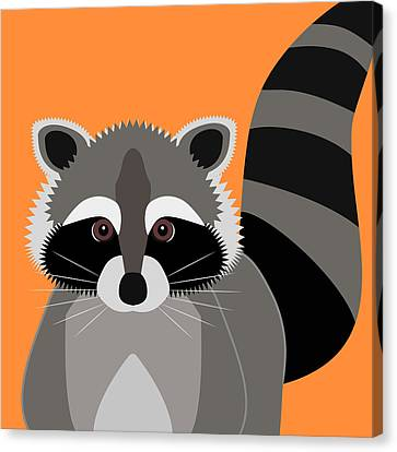 Raccoon Mischief Canvas Print