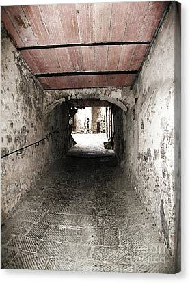 Radda Tunnel Canvas Print by Linda Ryan
