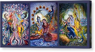 Radha Krishna Cosmic Leela Canvas Print