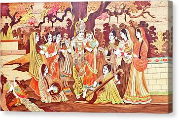 Radha-krishna Canvas Print by Mds0