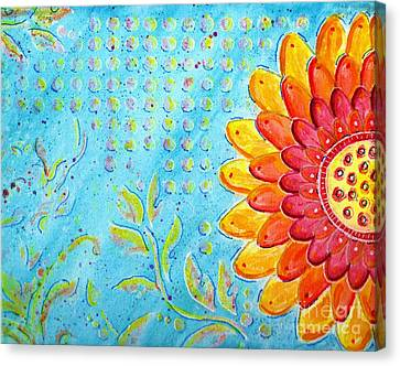 Radiance Of Christina Canvas Print by Desiree Paquette