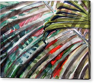 Radiant Palms Canvas Print by Mindy Newman