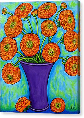Radiant Ranunculus Canvas Print by Lisa  Lorenz