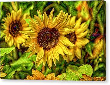 Radiate Love To The World Canvas Print by Dennis Baswell