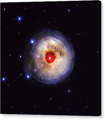 Radiation From A Stellar Burst Canvas Print by ESA and nASA