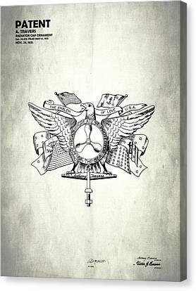 Radiator Cap Patent 1921 Canvas Print
