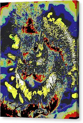 Radical Rodent Canvas Print by DigiArt Diaries by Vicky B Fuller