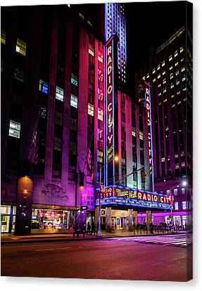 Canvas Print featuring the photograph Radio City Music Hall by M G Whittingham