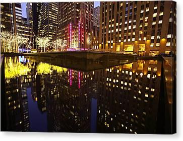Radio City Reflection Canvas Print