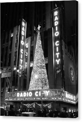 Radio Glow Black And White Canvas Print by Francis Flatley