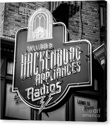 Radio Neon Canvas Print by Perry Webster